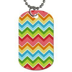 Colorful Background Of Chevrons Zigzag Pattern Dog Tag (two Sides)