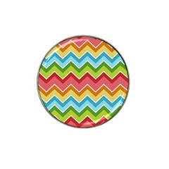 Colorful Background Of Chevrons Zigzag Pattern Hat Clip Ball Marker (10 Pack)
