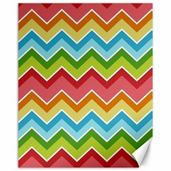 Colorful Background Of Chevrons Zigzag Pattern Canvas 16  X 20
