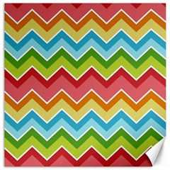 Colorful Background Of Chevrons Zigzag Pattern Canvas 20  x 20