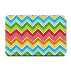 Colorful Background Of Chevrons Zigzag Pattern Small Doormat