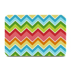 Colorful Background Of Chevrons Zigzag Pattern Plate Mats