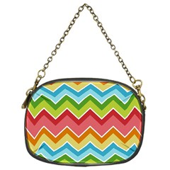 Colorful Background Of Chevrons Zigzag Pattern Chain Purses (One Side)