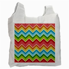 Colorful Background Of Chevrons Zigzag Pattern Recycle Bag (two Side)