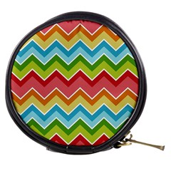 Colorful Background Of Chevrons Zigzag Pattern Mini Makeup Bags
