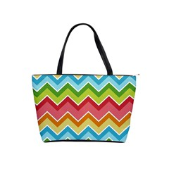 Colorful Background Of Chevrons Zigzag Pattern Shoulder Handbags