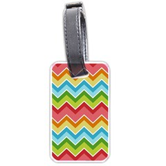 Colorful Background Of Chevrons Zigzag Pattern Luggage Tags (one Side)