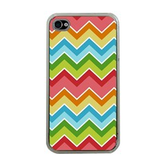 Colorful Background Of Chevrons Zigzag Pattern Apple iPhone 4 Case (Clear)