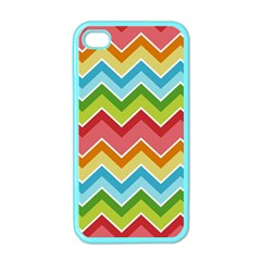 Colorful Background Of Chevrons Zigzag Pattern Apple iPhone 4 Case (Color)