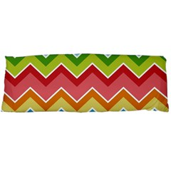 Colorful Background Of Chevrons Zigzag Pattern Body Pillow Case (dakimakura)