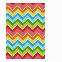 Colorful Background Of Chevrons Zigzag Pattern Small Garden Flag (Two Sides)
