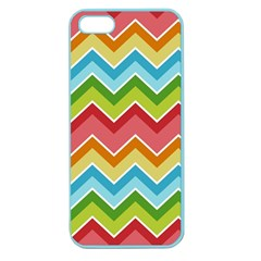 Colorful Background Of Chevrons Zigzag Pattern Apple Seamless iPhone 5 Case (Color)