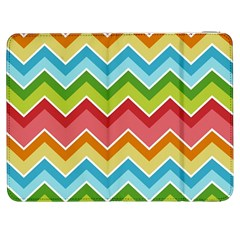 Colorful Background Of Chevrons Zigzag Pattern Samsung Galaxy Tab 7  P1000 Flip Case