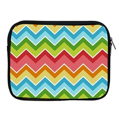Colorful Background Of Chevrons Zigzag Pattern Apple Ipad 2/3/4 Zipper Cases