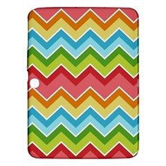 Colorful Background Of Chevrons Zigzag Pattern Samsung Galaxy Tab 3 (10.1 ) P5200 Hardshell Case