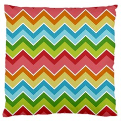 Colorful Background Of Chevrons Zigzag Pattern Large Flano Cushion Case (One Side)