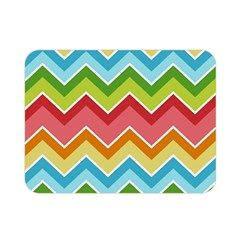 Colorful Background Of Chevrons Zigzag Pattern Double Sided Flano Blanket (Mini)
