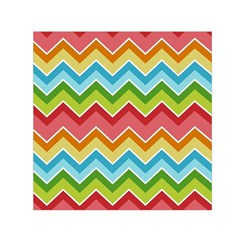 Colorful Background Of Chevrons Zigzag Pattern Small Satin Scarf (Square)
