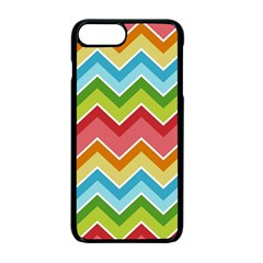 Colorful Background Of Chevrons Zigzag Pattern Apple Iphone 7 Plus Seamless Case (black)