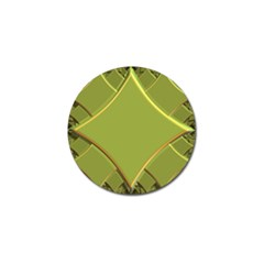 Fractal Green Diamonds Background Golf Ball Marker