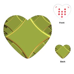 Fractal Green Diamonds Background Playing Cards (Heart)