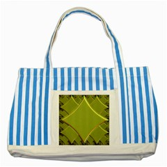 Fractal Green Diamonds Background Striped Blue Tote Bag