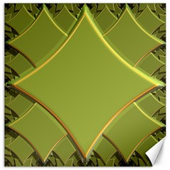 Fractal Green Diamonds Background Canvas 20  X 20