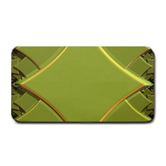 Fractal Green Diamonds Background Medium Bar Mats