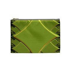 Fractal Green Diamonds Background Cosmetic Bag (medium)