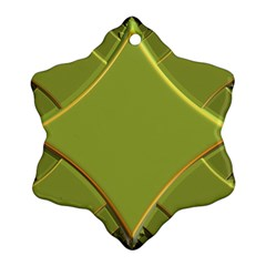 Fractal Green Diamonds Background Snowflake Ornament (two Sides)
