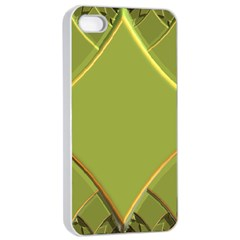 Fractal Green Diamonds Background Apple Iphone 4/4s Seamless Case (white)