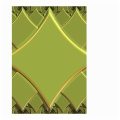 Fractal Green Diamonds Background Small Garden Flag (Two Sides)