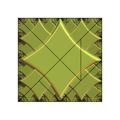 Fractal Green Diamonds Background Acrylic Tangram Puzzle (4  x 4 )