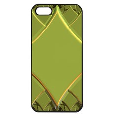 Fractal Green Diamonds Background Apple iPhone 5 Seamless Case (Black)