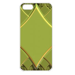 Fractal Green Diamonds Background Apple iPhone 5 Seamless Case (White)