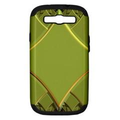 Fractal Green Diamonds Background Samsung Galaxy S Iii Hardshell Case (pc+silicone)