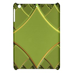 Fractal Green Diamonds Background Apple iPad Mini Hardshell Case