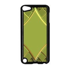 Fractal Green Diamonds Background Apple iPod Touch 5 Case (Black)