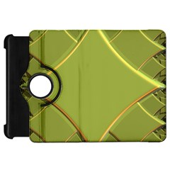 Fractal Green Diamonds Background Kindle Fire Hd 7