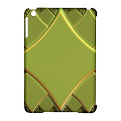 Fractal Green Diamonds Background Apple iPad Mini Hardshell Case (Compatible with Smart Cover)