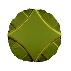 Fractal Green Diamonds Background Standard 15  Premium Round Cushions
