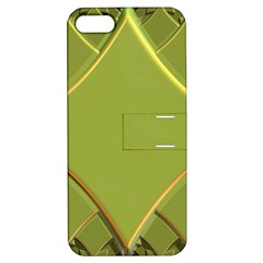 Fractal Green Diamonds Background Apple iPhone 5 Hardshell Case with Stand