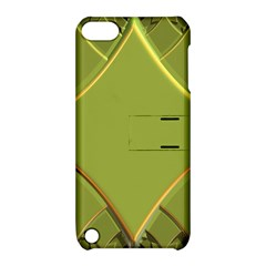 Fractal Green Diamonds Background Apple iPod Touch 5 Hardshell Case with Stand