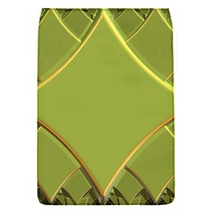 Fractal Green Diamonds Background Flap Covers (S)