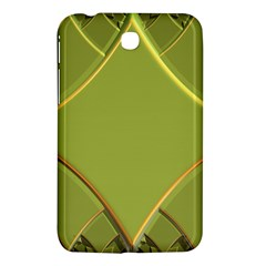 Fractal Green Diamonds Background Samsung Galaxy Tab 3 (7 ) P3200 Hardshell Case