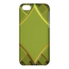 Fractal Green Diamonds Background Apple iPhone 5C Hardshell Case
