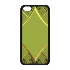 Fractal Green Diamonds Background Apple iPhone 5C Seamless Case (Black)