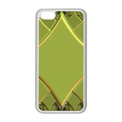 Fractal Green Diamonds Background Apple iPhone 5C Seamless Case (White)