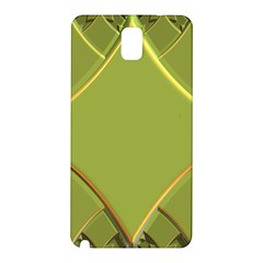 Fractal Green Diamonds Background Samsung Galaxy Note 3 N9005 Hardshell Back Case