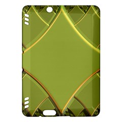 Fractal Green Diamonds Background Kindle Fire HDX Hardshell Case